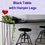 How to Make a Budget Wooden Rectangular Black Table with Hairpin Legs