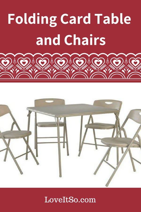 Folding Card Table and Chairs