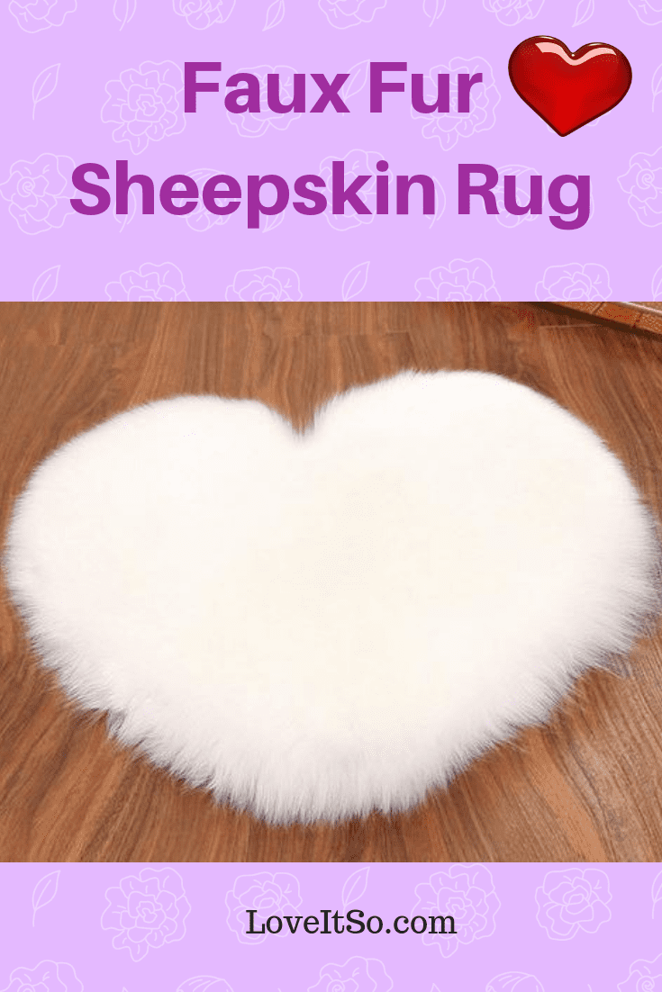 Faux Fur Sheepskin Rug