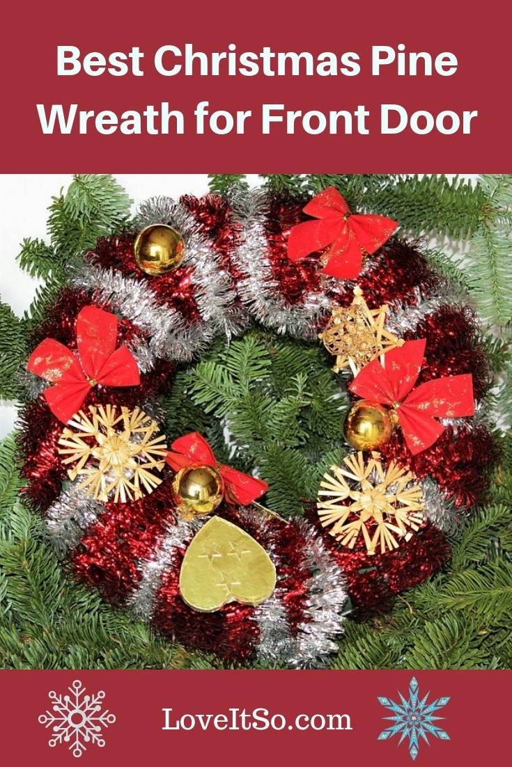 Best Christmas Pine Wreath for Front Door