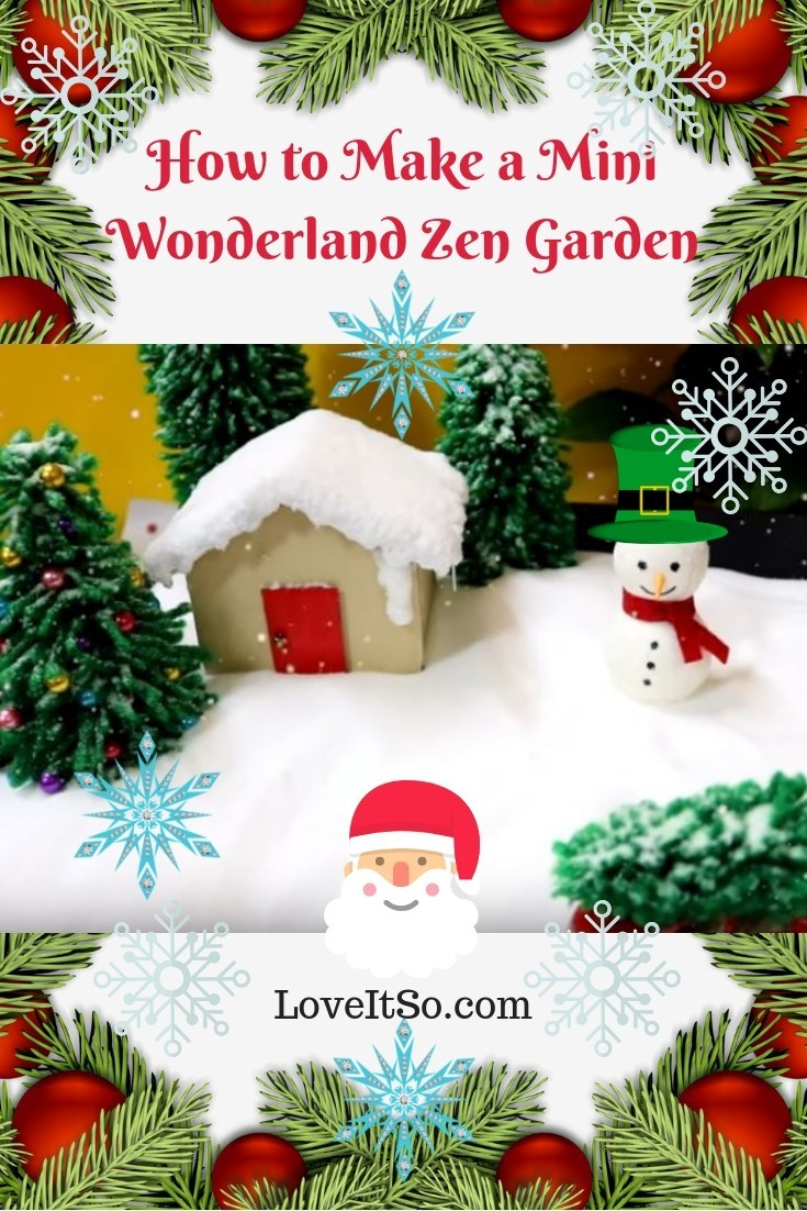How to Make a Mini Winter Wonderland for Christmas